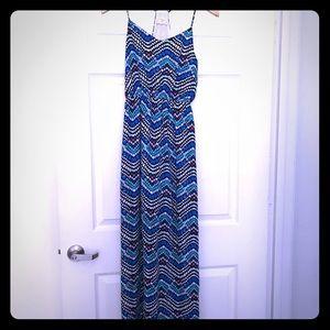 Always in Bubble Blue Print Maxi Dress